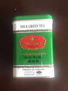 手標綠奶茶