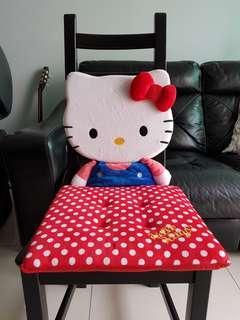 Hello kitty back rest seat cushion