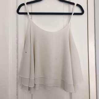White flare camisole top