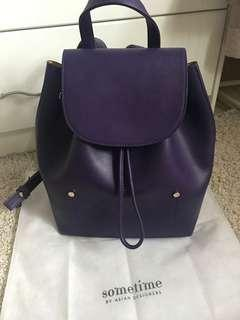 [REDUCED PRICE] Piko-piko Back Pack in Royal Purple - Sometime Bag
