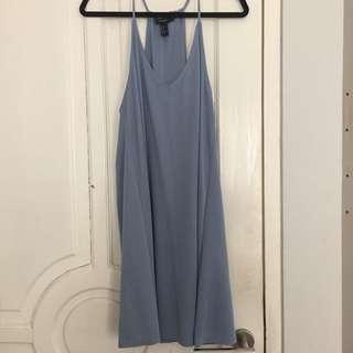 F21 dusty blue halter dress