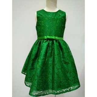 Lil little Baby Girl Green Dress sleeveless GD703