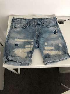 H and M patched denim shorts (32)