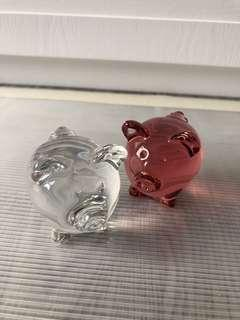 Baccarat Crystal Pigs