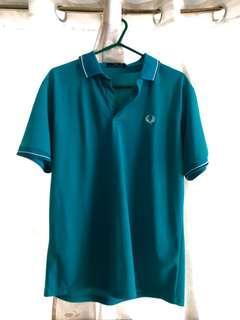 💯 AUTHENTIC!! Fred Perry polo shirt (Teal) -Size XL-
