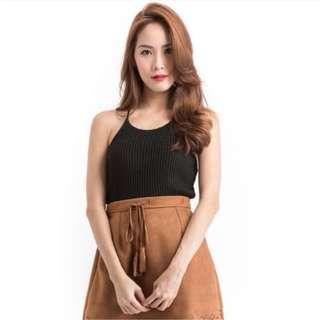 set apart knitted halter top