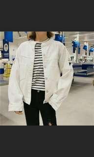 白色牛仔刺繡外套 #女裝88