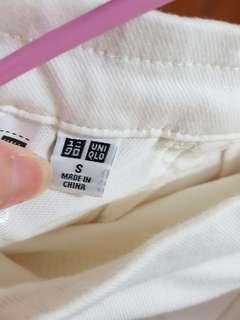 (2色!!)原價790🇯🇵UNIQLO超有彈性的褲子(白/丹寧色)