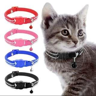 Cat Collar With Bell Quick Release Kitten Cats Collar Rhinestone
