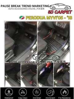 PERODUA MYVI 2005 - 2018 5D Carpet