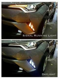 ( LATEST VERSION ) Toyota CHR 2016 - 2018 White / Yellow LED DRL Daytime Running Lights ( 2pcs )