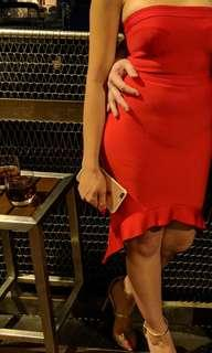 Mistress rocks red cocktail dress