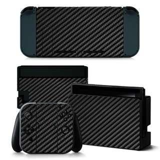 Nintendo Switch Skin Black Carbon Fiber(PRE ODER)
