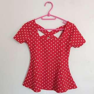 Polka dots blouse