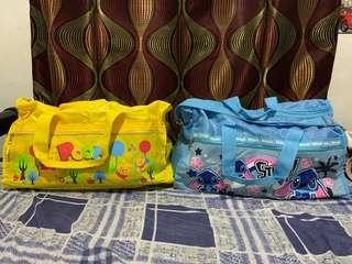 100% original stitch and winnie the pooh travel bags bundle