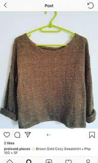 Brown gold sweater