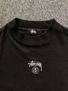 Stussy Black Shirt with Logo Linings