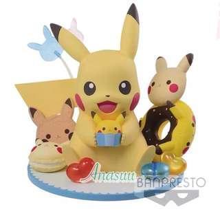 比卡超甜點派對 比卡超 pikachu 比卡超派對模型 比卡超模型 pikachufigure