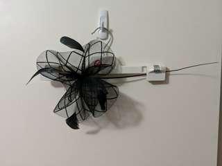 Colette black fascinator