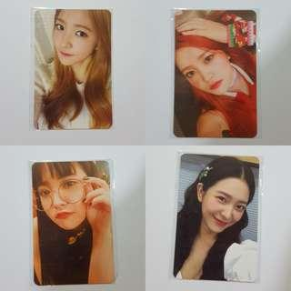 red velvet yeri photocards