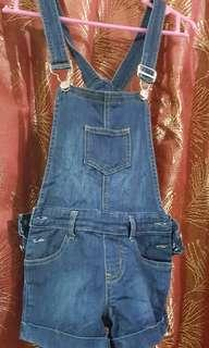 Lil Bobson Kid's Denim Romper