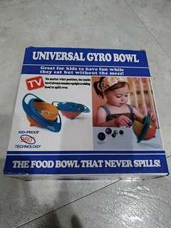 🚚 兒童碗360度旋轉平衡碗陀螺碗飛碟碗嬰兒碗