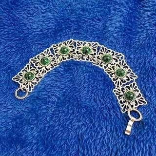西班牙 Diosa gema verde 藝品手鍊