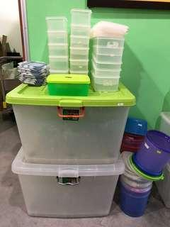 Assorted Sizes and Colours Containers
