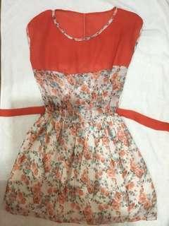 floralpeach dress