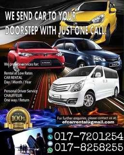 CAR FOR RENT DURING SCHOOL HOLIDAY, BOOK NOW!