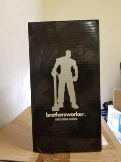 鐵人兄弟 BIG MAC brothers worker polystone statue