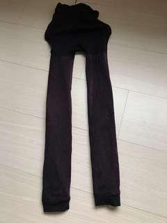 🚚 女童約120~140公分 寒冬保暖內裹毛貼腿褲(二手少穿廉售)