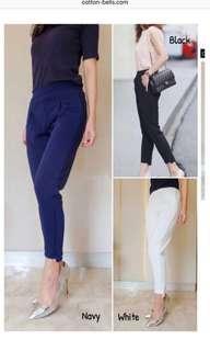 Celana panjang putih polos Jessa Collection
