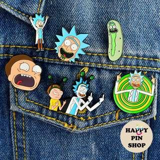 [AVAIL @ Cine] Rick and Morty Enamel Pins (various)