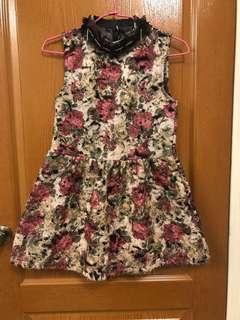 🚚 復古 宮廷風 花朵 短洋裝