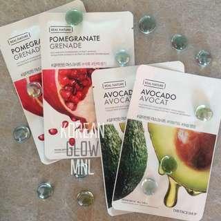 The Face Shop Real Nature Masks Avocado/Pomegranate