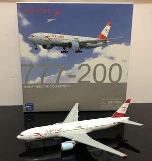 飛機模型 - 1:400 奧地利航空  B777-200ER