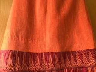 Indian linen saree