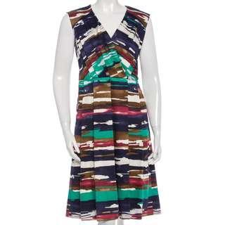 🚚 OSCAR DE LA RENTA Watercolor Pleated Dress
