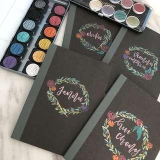 customise muji notebooks