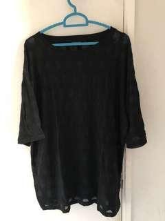 top shop black shirt