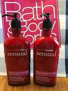 Bath and body works sensual body lotion