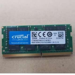 Crucial 8GB DDR4 2133Mhz Sodimm Ram Laptop