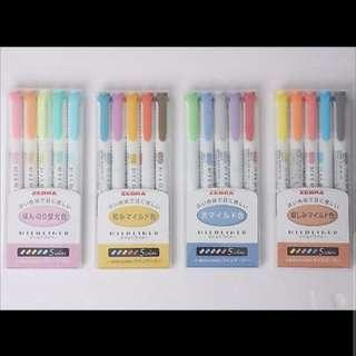Zebra Mildliner Highlighters (5 colors)