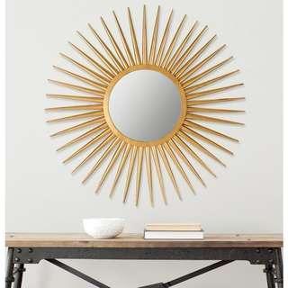 Decorative Gold Sunburst Mirror