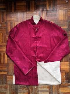 Mens Reversible Traditional Chinese Mandarin Collar Shirt