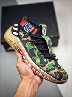 detailed look d9d25 b66bb Bape X Adidas Dame 4 Sneakers