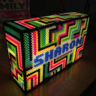 [Design A12] Personalised LightBox made with beads