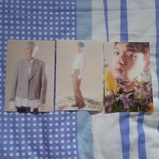 WTS EXO CBX Blooming Day Postcards
