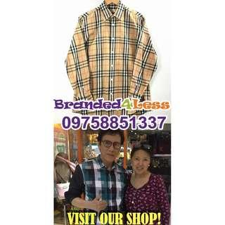 Authentic Burberrys check shirt NOVA check Long Sleeves
